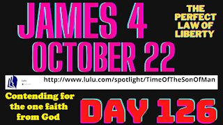 Day 126, James 4, October 22 why all the fighting among denominations?