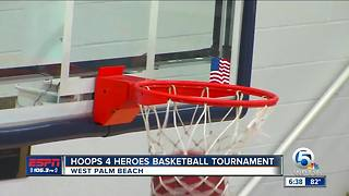 Third annual Hoops 4 Heroes basketball tournament - Video