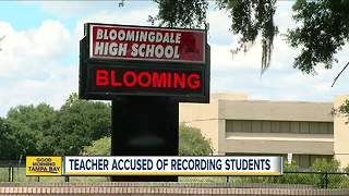 Hillsborough teacher recorded students changing
