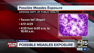 State warns of possible measles exposure at Tucson International Airport