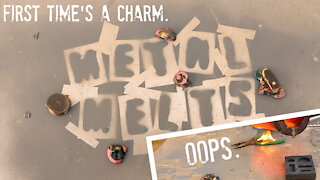METALMELTS - Scrap Cable, Molten Copper, Fires, and LOTS of MESS... This is how you melt metal!!!