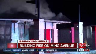 Building fire on Ming Avenue