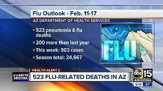 Over 500 flu-related deaths reported in Arizona so far - Video