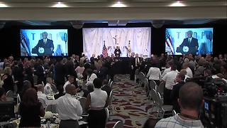 Vice President Mike Pence gives the keynote address at the annual Ten Point Coalition luncheon - Video