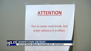 Downtown Detroit boil water advisory affecting Auto Show visitors