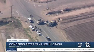 Concerns after 13 killed in Imperial County crash