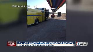 Hot air balloon makes emergency landing
