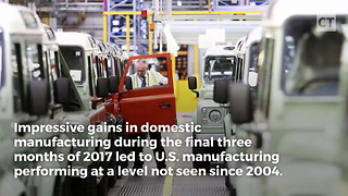 Trump Breaks 14-Year Record in Manufacturing - Video