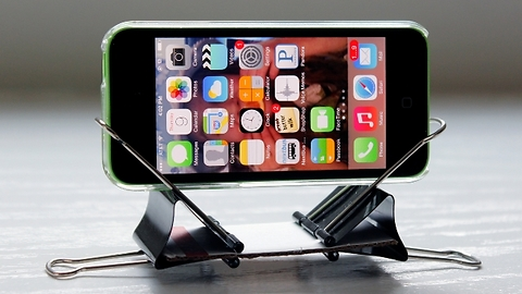 5 Cell Phone Stands with Binder Clips