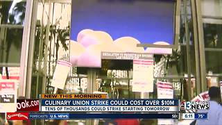 Culinary union strike could start tomorrow - Video