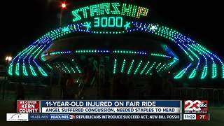 11-year-old injured on fair ride - Video