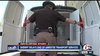 Marion Sheriff delays end of arrestee transport services - Video