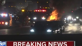 Car fire on I-805 North - Video