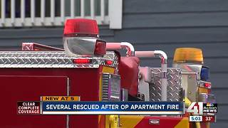 Eleven rescued from O.P. apartment fire - Video