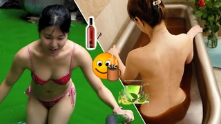 Crazy japanese baths: WINE, GREEN TEA, and COFFEE!! - Video
