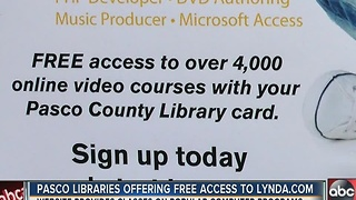 Pasco County libraries offering new service to help job seekers, community - Video