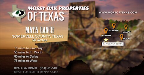 MATA RANCH - 30 ACRES - SOMERVELL COUNTY