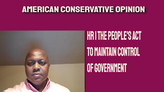 HR 1 The People's Act to maintain control of government