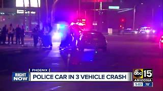 DUI driver arrested after crashing into Phoenix police car - Video