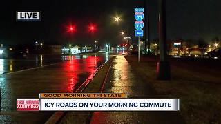 Icy roads expected for morning commute - Video