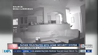Father frustrated with home security system - Video