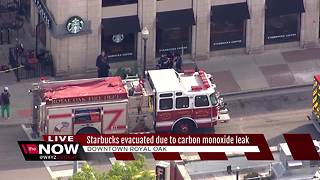 Starbucks evacuated due to carbon monoxide leak - Video