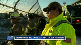 First responders line the procession route for fallen MPD Officer Matthew Rittner