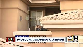 Scottsdale police investigating after two people found dead in an apartment - Video