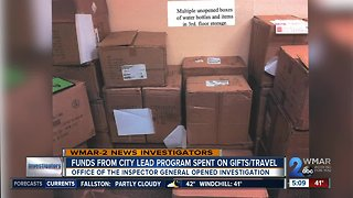 Funds for Baltimore City lead program spent on promotional items, gifts & travel