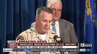 Police give update on shooter and motive in Las Vegas mass shooting, 23 firearms found at Mandalay Bay - Video