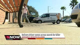 Delivery driver comes across search for killer - Video