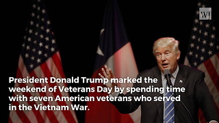 Vietnam Vet Weeps on Donald Trump's Shoulder During Ceremony - Video