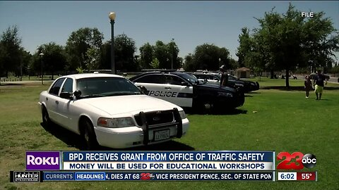 BPD Receives Grant from Office of Traffic Safety