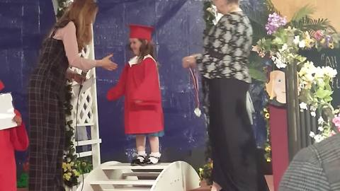 LIttle Girl Says That She Wants To Be Helicopter At Graduation