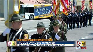 Police officers honored - Video