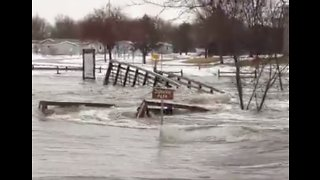 Raging Flood Washes Away Bridge in Sioux Falls