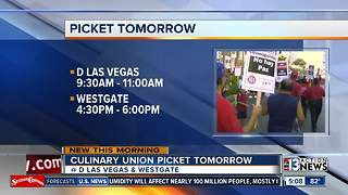 Culinary Union plans to picket at D Las Vegas, Westgate on July 6 - Video