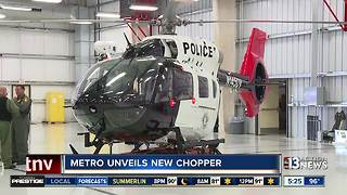 Las Vegas police unveils new helicopter
