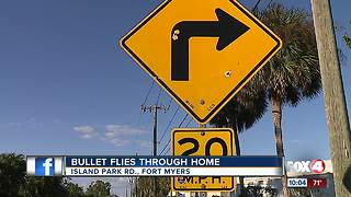 Bullets bounce off sign, hit home in Fort Myers - Video