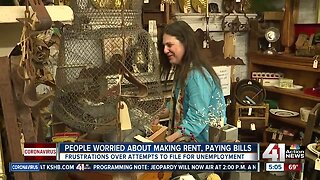 People worried about making rent, paying bills