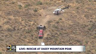 Air15: Teen with life threatening head injury on Daisy Mountain trail - Video