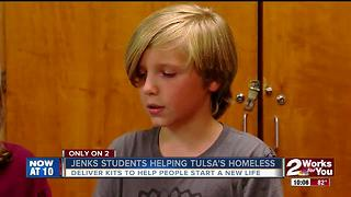 Jenks fifth graders take monthly trips to Tulsa's Day Center to care for the homeless - Video