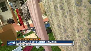 Families continue clean up after Burlington floods