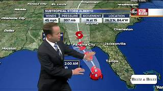 Subtropical Storm Alberto moves north in the Gulf of Mexico - Video
