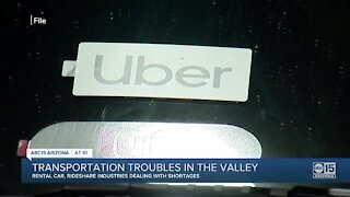 Rental car, rideshare companies dealing with shortages