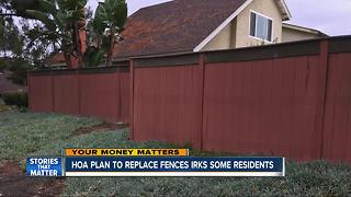 Residents say HOA's fence plan costing them - Video