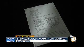 Strip club lawsuit against SDPD dismissed - Video