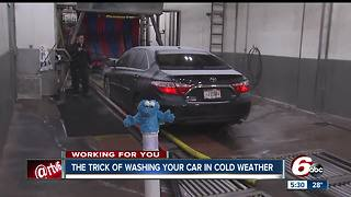 The trick of washing your car in cold weather