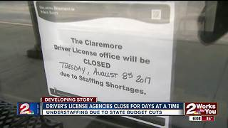Driver's license offices closing without notice - Video