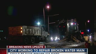 East Tulsa water main break causing morning traffic delays - Video